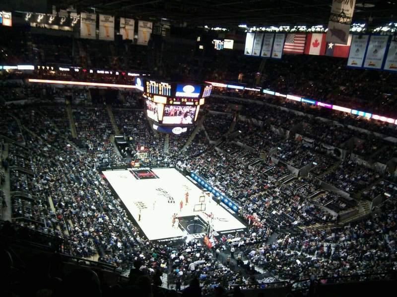 Seating view for AT&T Center Section 218 Row 13 Seat 12