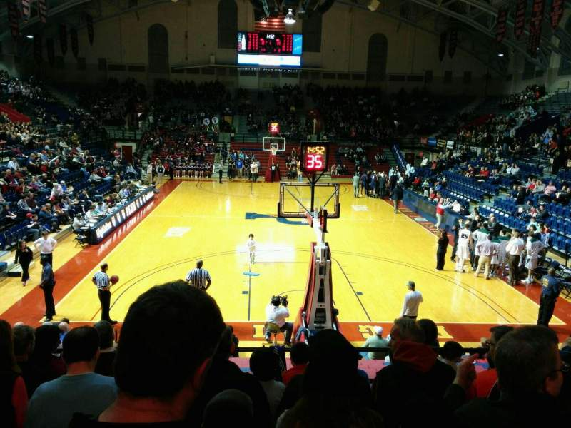 Seating view for Palestra Section 209 Row 8 Seat 13
