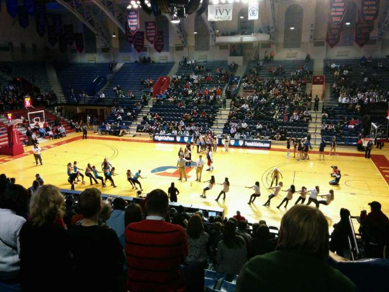 Seating view for Palestra Section 203 Row 13 Seat 1