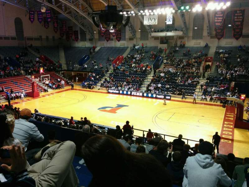 Seating view for Palestra Section 202 Row 17 Seat 10