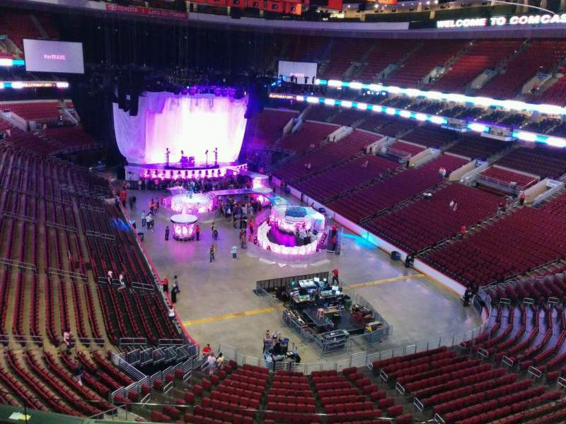 Seating view for Wells Fargo Center Section 205a Row 5 Seat 7
