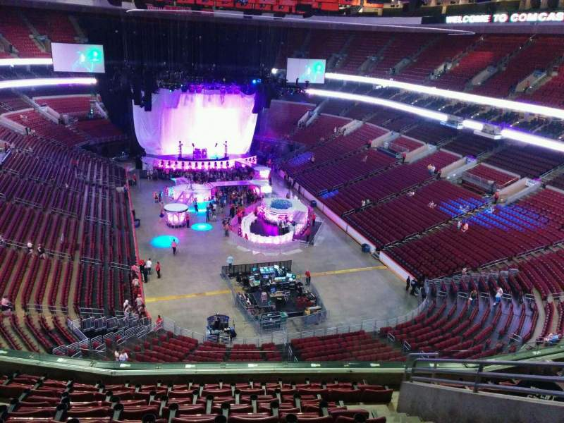 Seating view for Wells Fargo Center Section 206 Row 10 Seat 11
