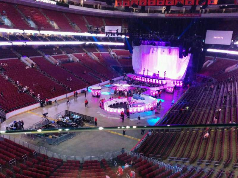 Seating view for Wells Fargo Center Section 209 Row 1 Seat 13