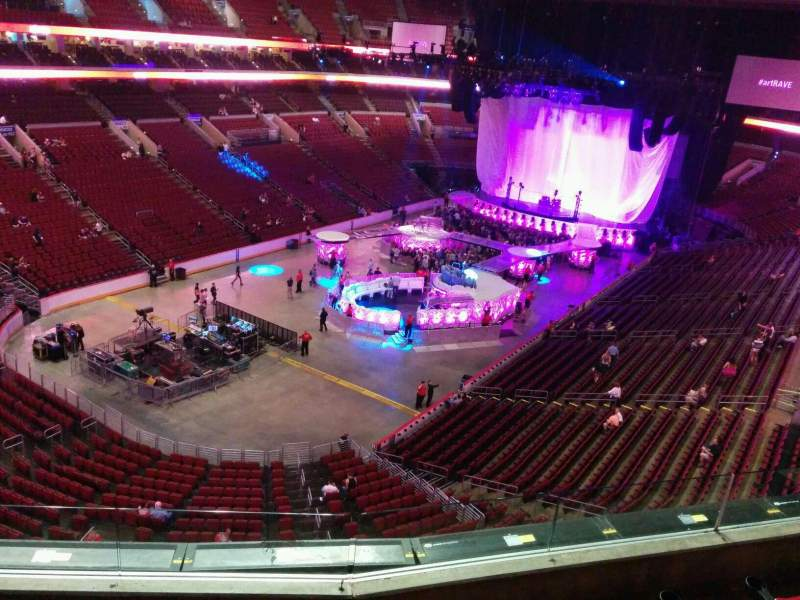 Seating view for Wells Fargo Center Section 209a Row 4 Seat 4