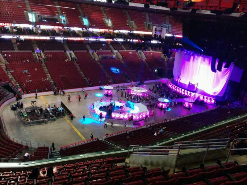 Seating view for Wells Fargo Center Section 210a Row 12 Seat 9