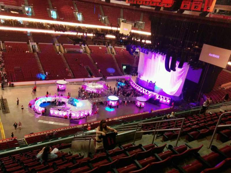 Seating view for Wells Fargo Center Section 211 Row 13 Seat 17