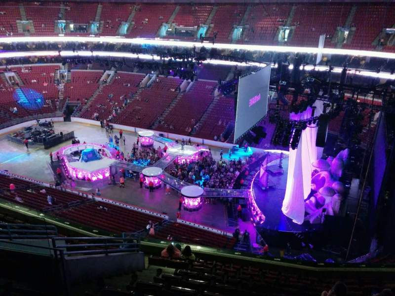 Seating view for Wells Fargo Center Section 216 Row 11 Seat 8