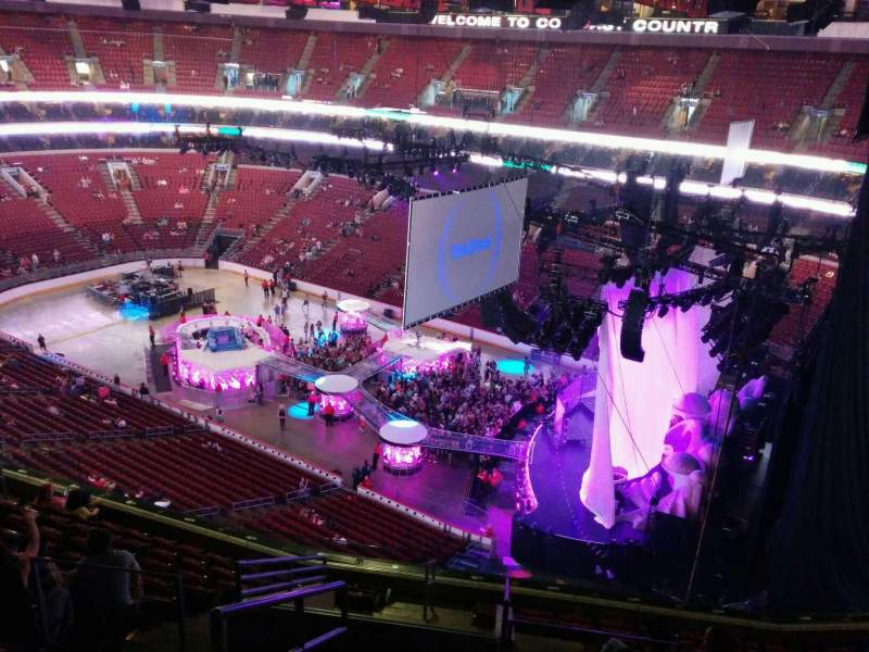 Seating view for Wells Fargo Center Section 217 Row 12 Seat 1