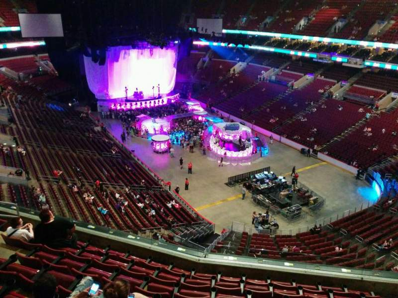 Seating view for Wells Fargo Center Section 206 Row 8 Seat 12