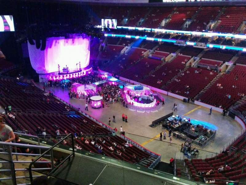 Seating view for Wells Fargo Center Section 204a Row 7 Seat 5