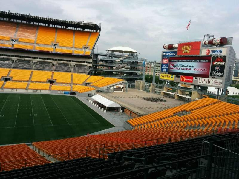 Seating view for Heinz Field Section 237 Row O Seat 6