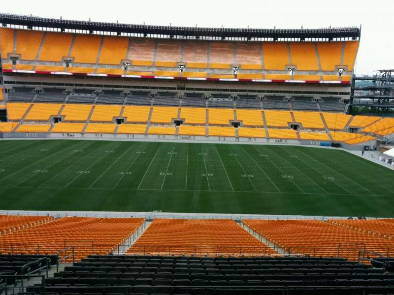 Seating view for Heinz Field Section 353 Row 1