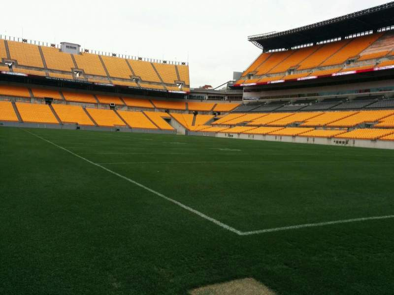 Seating view for Heinz Field Section Field