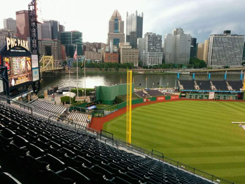 Seating view for PNC Park Section 332 Row V Seat 5