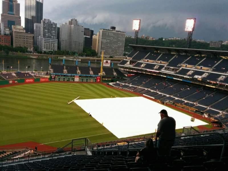 Seating view for PNC Park Section 329 Row Y Seat 10