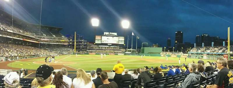 Seating view for PNC Park Section 13 Row M Seat 2