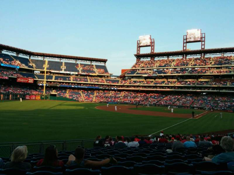 Seating view for Citizens Bank Park Section 139 Row 25 Seat 8