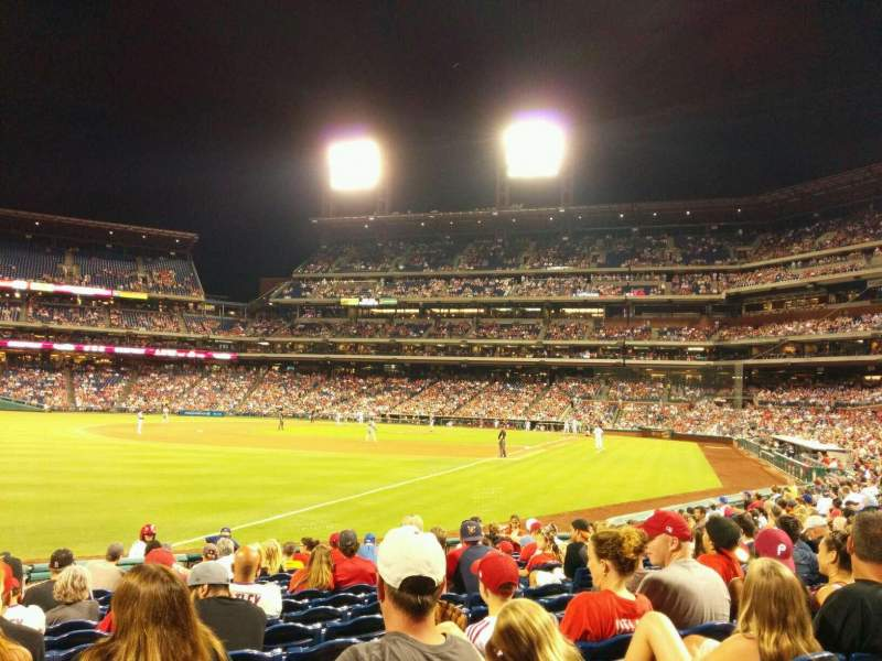 Seating view for Citizens Bank Park Section 139 Row 15 Seat 9