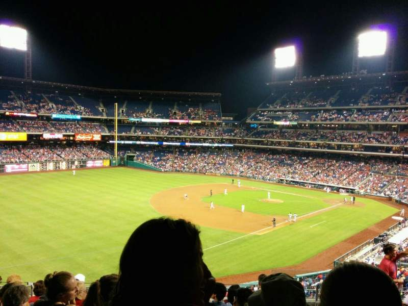 Seating view for Citizens Bank Park Section 325 Row 8 Seat 4