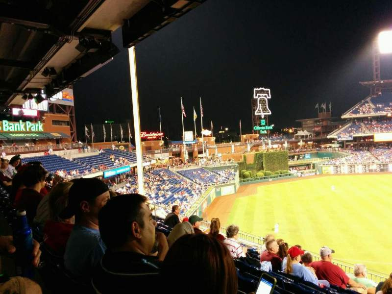 Seating view for Citizens Bank Park Section 236 Row 8 Seat 4