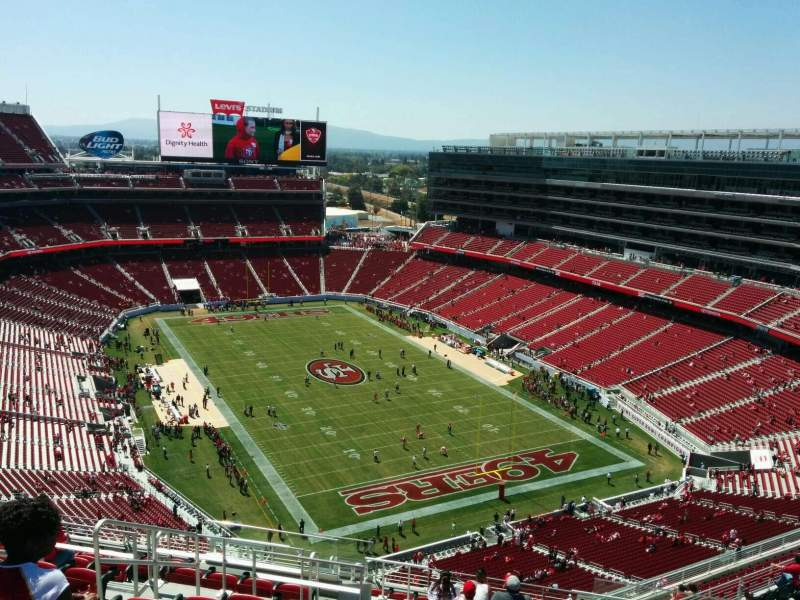 Seating view for Levi's Stadium Section 401 Row 15 Seat 21