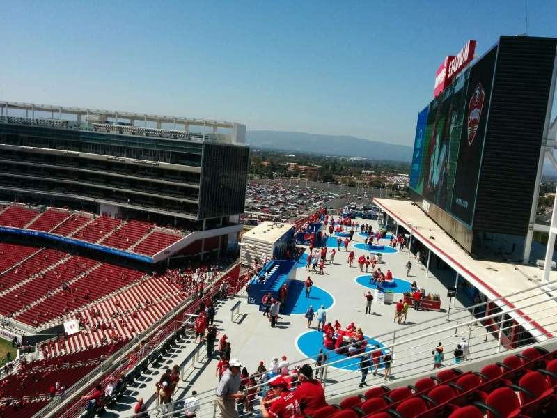 Levi's Stadium, section 401, home of San Francisco 49ers