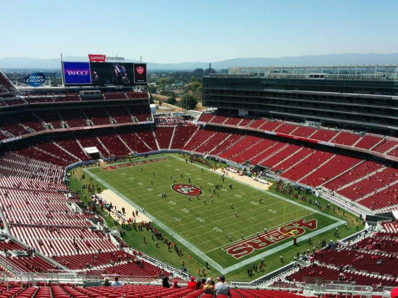 Seating view for Levi's Stadium Section 403 Row 24 Seat 11