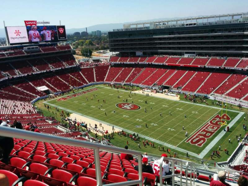 Seating view for Levi's Stadium Section 405 Row 16 Seat 34