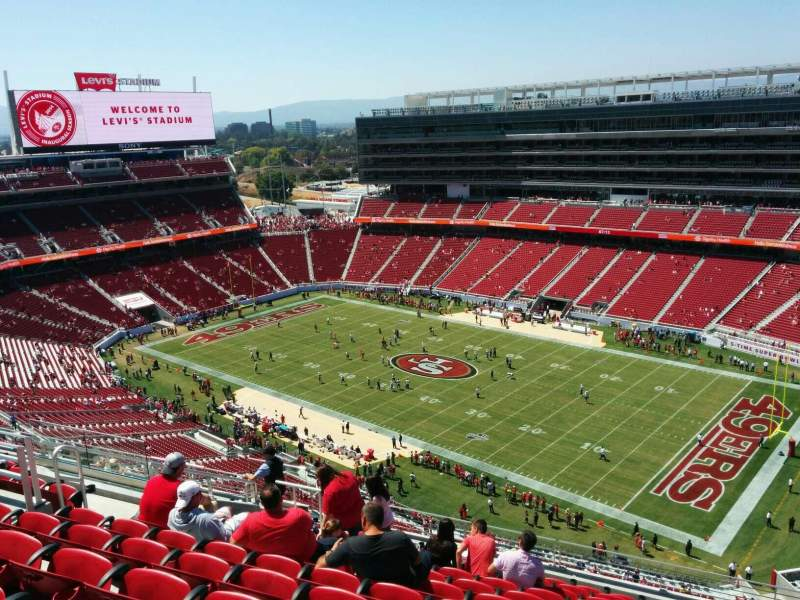 Seating view for Levi's Stadium Section 406 Row 12 Seat 15