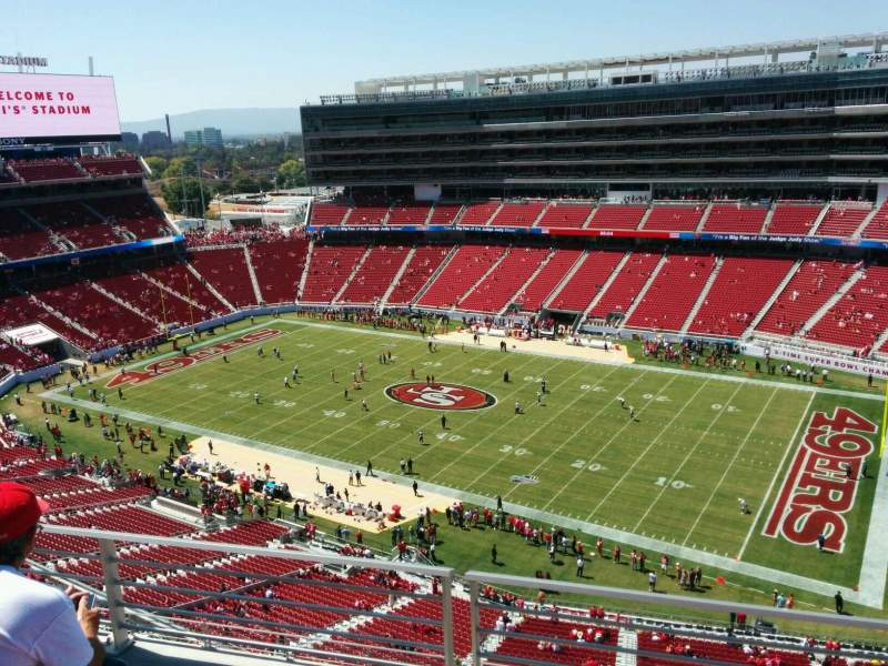 Seating view for Levi's Stadium Section 407 Row 3 Seat 15