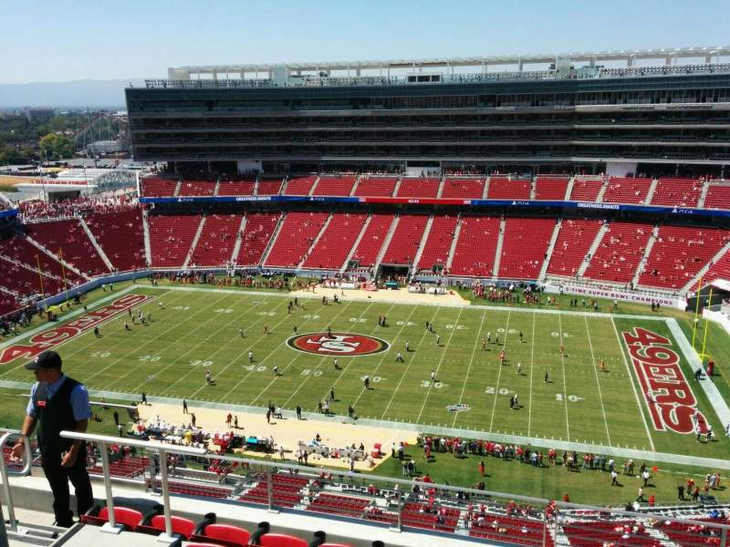 Seating view for Levi's Stadium Section 409 Row 6 Seat  19