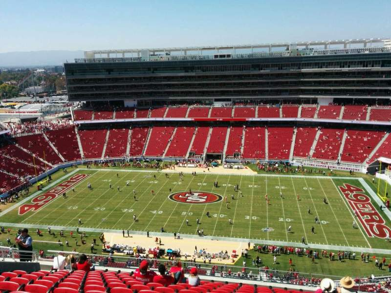 Seating view for Levi's Stadium Section 410 Row 13 Seat 13