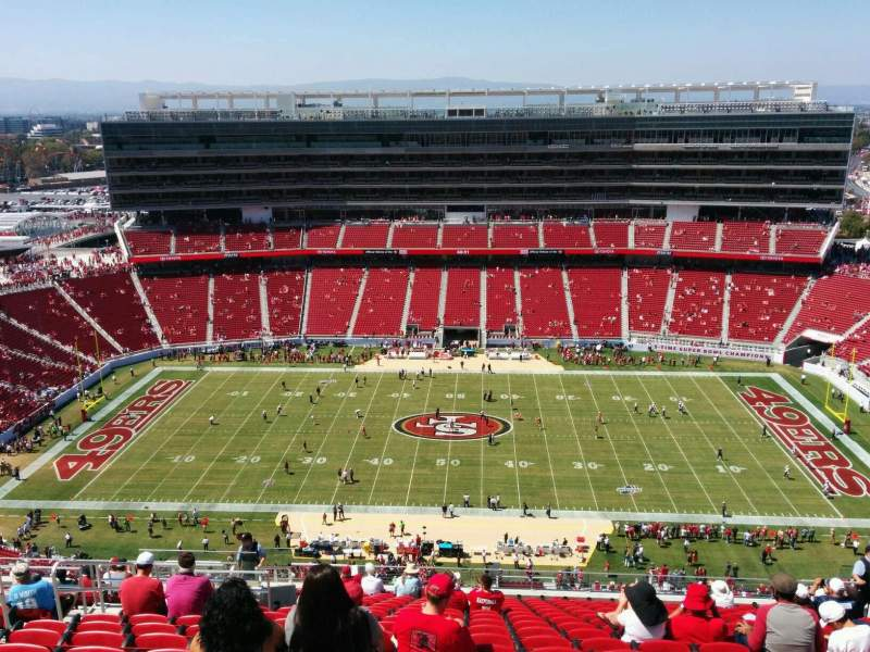 Seating view for Levi's Stadium Section 411 Row 18 Seat  16