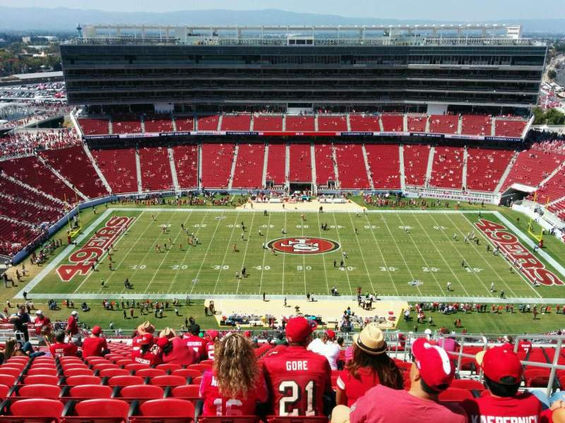 Seating view for Levi's Stadium Section 412 Row 23 Seat 5