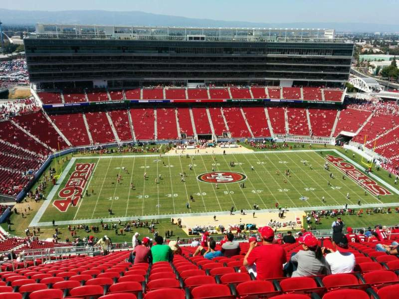 Seating view for Levi's Stadium Section 414 Row 26 Seat 20