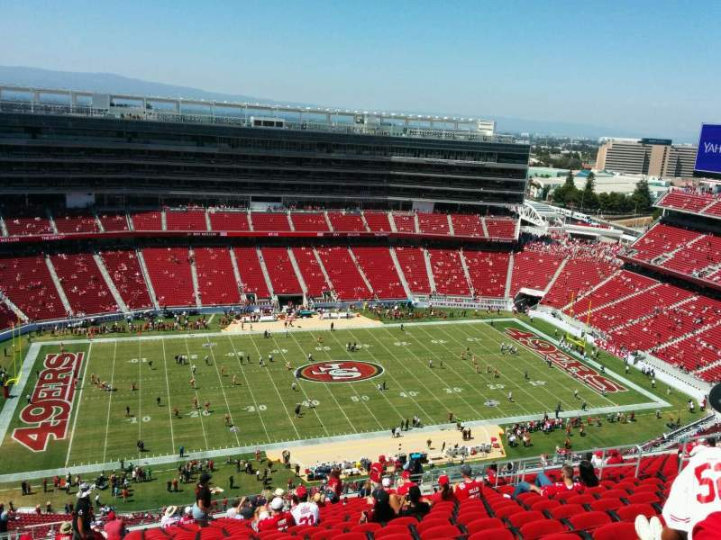 Seating view for Levi's Stadium Section 414 Row 22 Seat 16