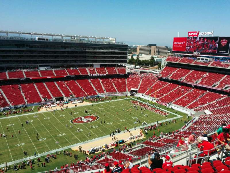 Seating view for Levi's Stadium Section 415 Row 15 Seat 18