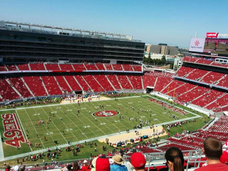 Seating view for Levi's Stadium Section 416 Row 13 Seat 7