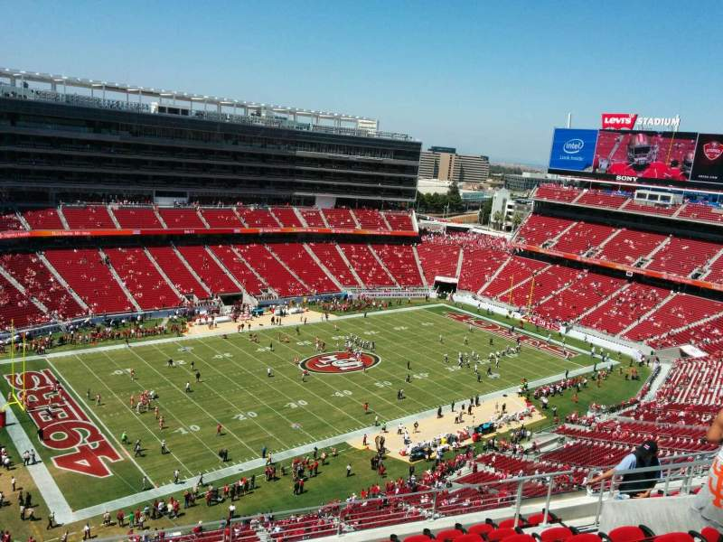 Seating view for Levi's Stadium Section 417 Row 9 Seat 13