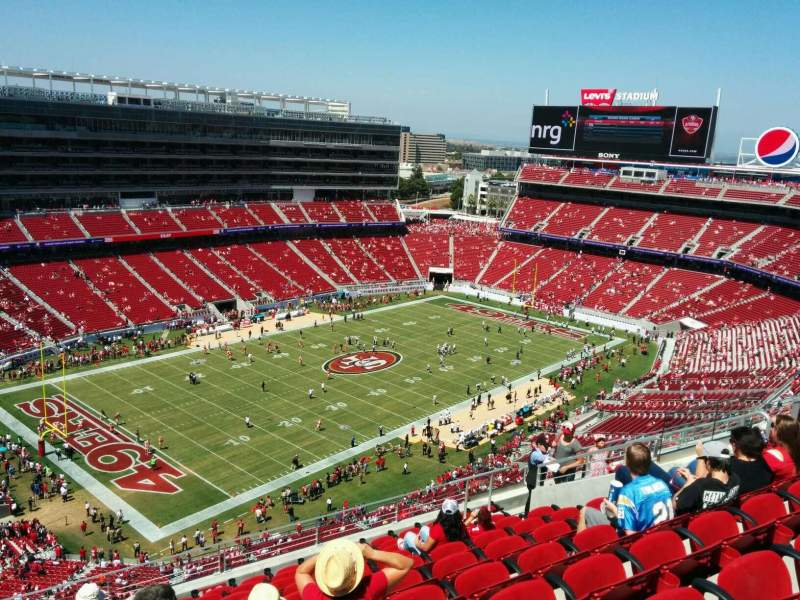Seating view for Levi's Stadium Section 418 Row 11 Seat 15