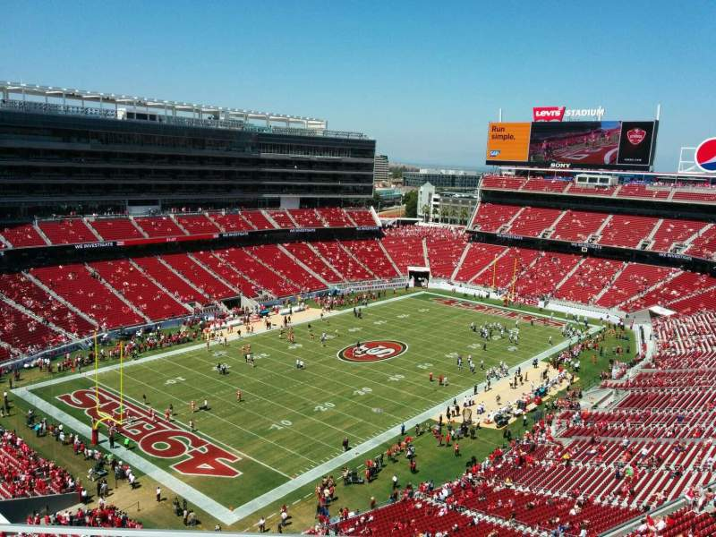Seating view for Levi's Stadium Section 419 Row 3 Seat 19