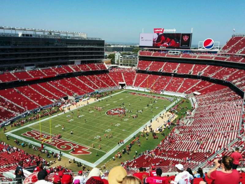 Seating view for Levi's Stadium Section 420 Row 14 Seat 20