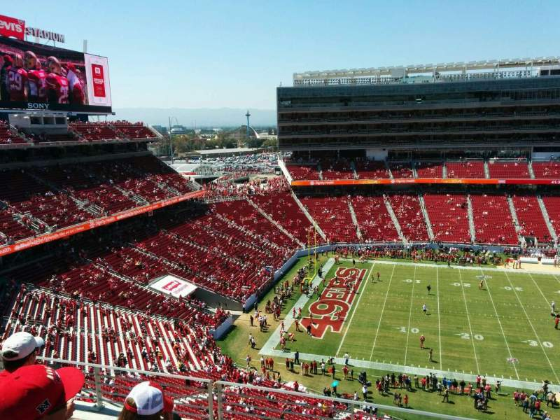 Seating view for Levi's Stadium Section 317 Row 5 Seat 12