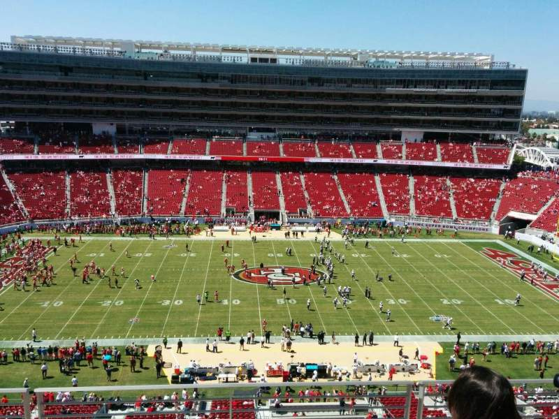Seating view for Levi's Stadium Section 315 Row 4 Seat 16
