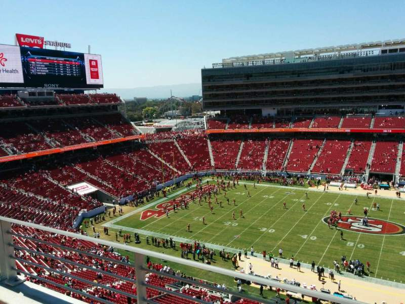 Seating view for Levi's Stadium Section 314 Row 2 Seat 8