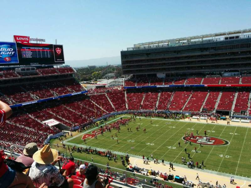 Seating view for Levi's Stadium Section 313 Row 7 Seat 13