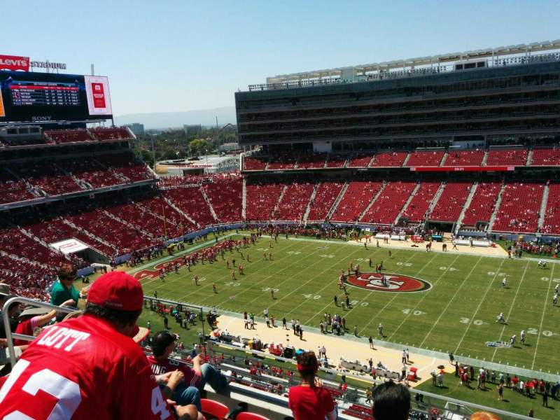 Seating view for Levi's Stadium Section 312 Row 5 Seat 17