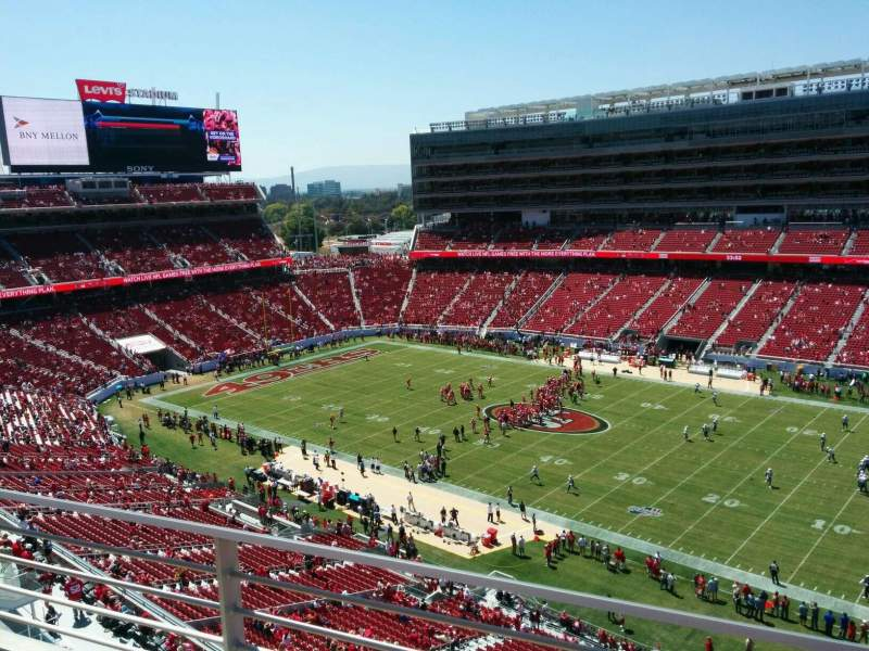 Seating view for Levi's Stadium Section 312 Row 2 Seat 7