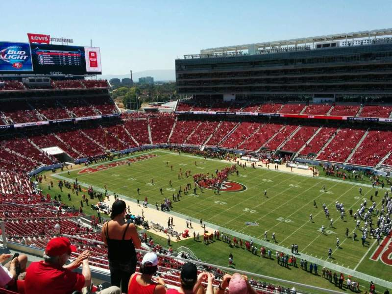 Seating view for Levi's Stadium Section 310 Row 5 Seat 20