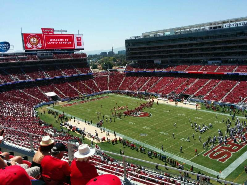 Seating view for Levi's Stadium Section 309 Row 4 Seat 12